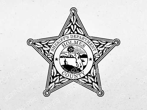 Holmes County Florida Sheriff's Department Badge | Vector Image