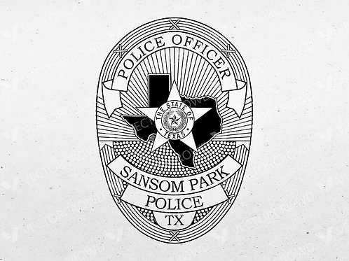 Sansom Park Texas Police Department Badge | Vector Images | VectorCrowd