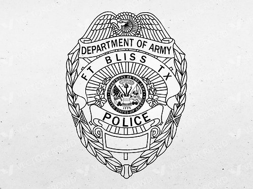 Fort Bliss Texas Police Department Badge | Vector Images | VectorCrowd