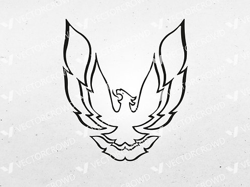 1980's Pontiac Trans AM Firebird Logo | SVG Cut File