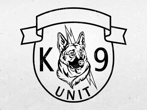 K9 Police Dog Patch K-9 Law Enforcement Logo Digital Vector .ai, .svg, .png