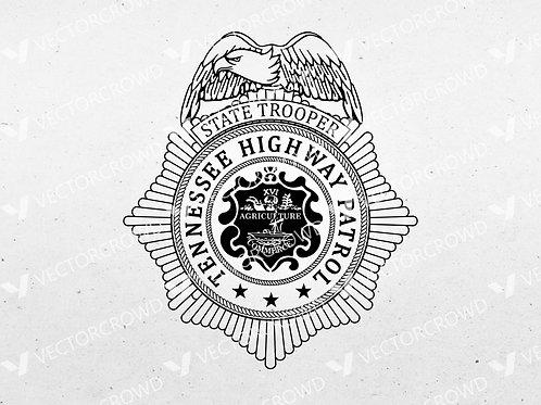 Tennessee Highway Patrol Badge | SVG Cut File
