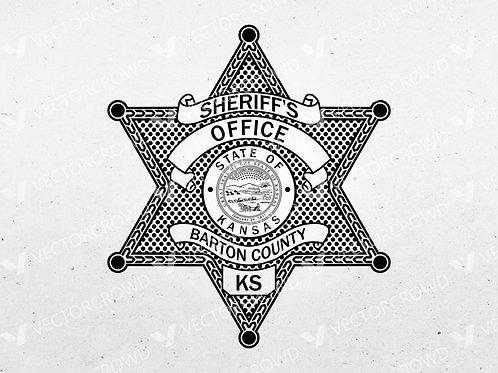 Barton County KS Sheriff's Department Badge | Vector Image