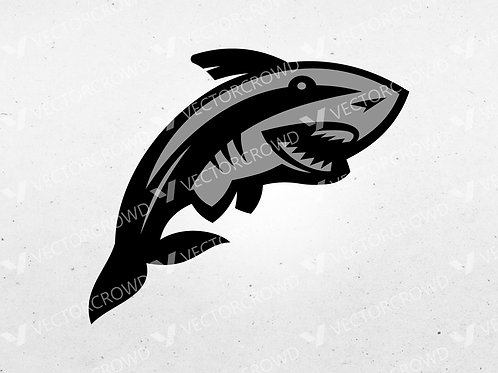Swimming Shark Layered Image | Vector Images | VectorCrowd