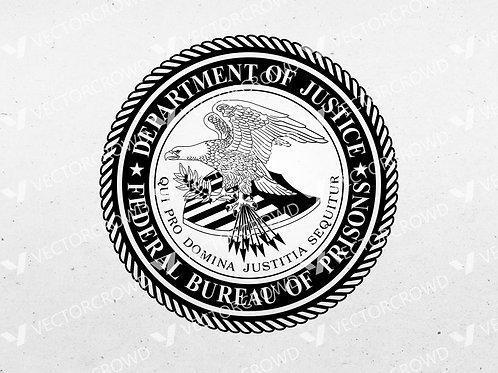 Federal Bureau of Prisons Logo | SVG Cut File