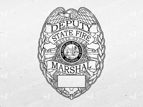 California Deputy State Fire Marshal Badge | Vector Image