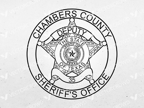 Chambers County Texas Sheriff Deputy Badge Logo | SVG Cut File