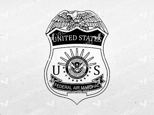 Federal Air Marshal Badge   SVG Cut File