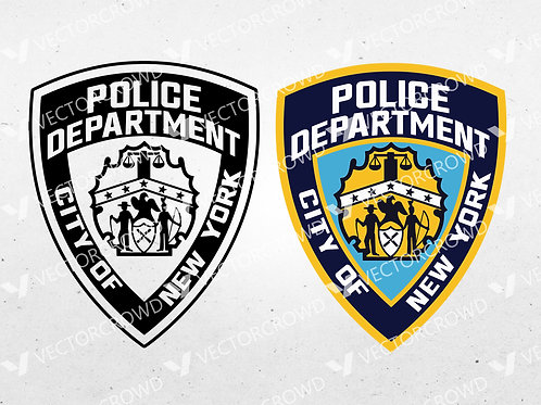 NYPD New York City Police Department Logo | SVG Cut File