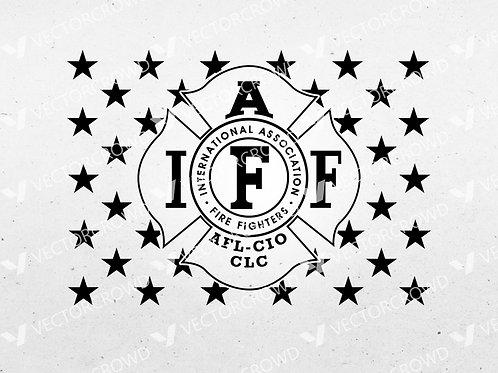 International Association of Firefighters American Flag Union | SVG Cut File