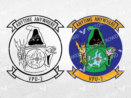 Navy Special Projects Patrol Squadron VPU-2 Logo | SVG Cut File