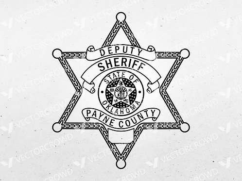 Payne County OK Sheriff's Department Badge | Vector Images | VectorCrowd