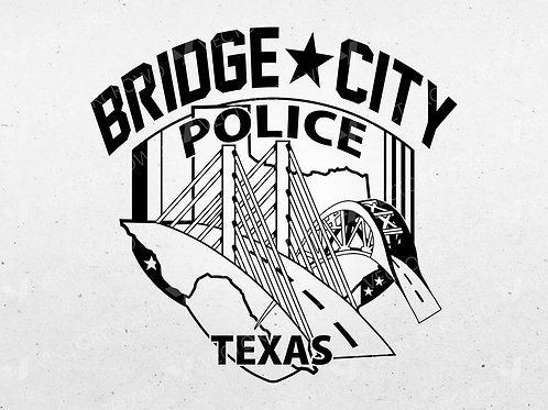 Bridge City Texas Police Officer Patch | VectorCrowd