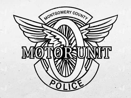 Montgomery County Maryland Motor Unit Logo | SVG Cut File | VectorCrowd