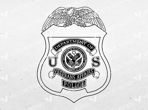 Department of Veterans Affairs Police Badge | SVG Cut File