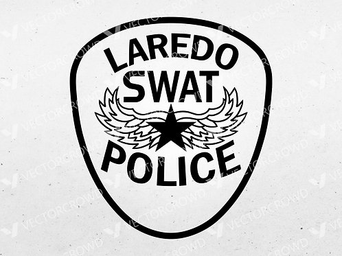 Laredo Texas Police Officer SWAT Patch | Vector Image