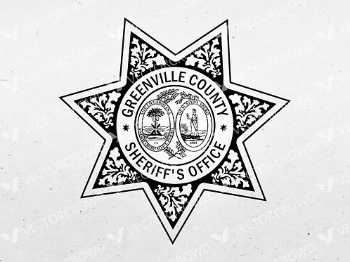 Greenville County SC Sheriff Department Badge | Vector Images | VectorCrowd
