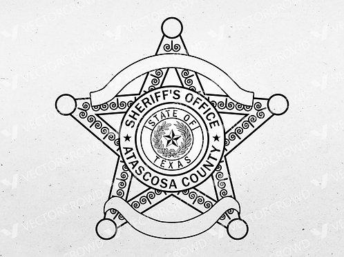 Atascosa County Texas Sheriff's Office Badge | Vector Image