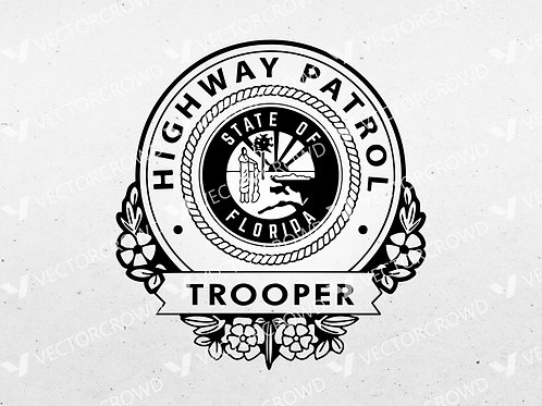 Florida Highway Patrol Trooper Seal | SVG Cut File