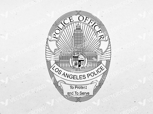 LAPD Los Angeles Police Department Seal | SVG Cut File