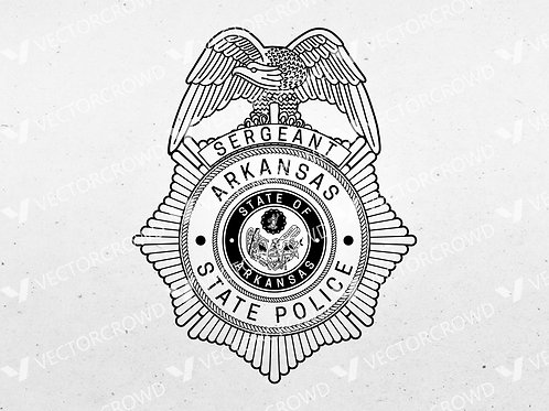 Arkansas State Police Sergeant Badge | Vector Images | VectorCrowd