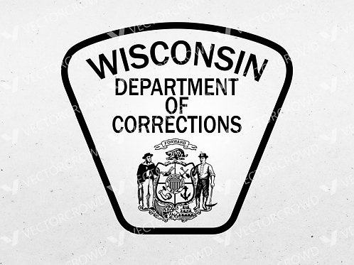 Wisconsin Department of Corrections Patch | Vector Image
