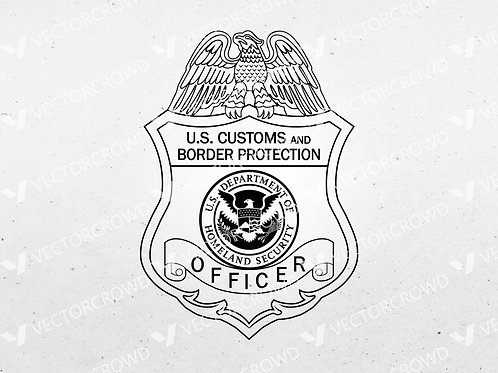 US Customs and Border Protection Officer Badge | SVG Cut File