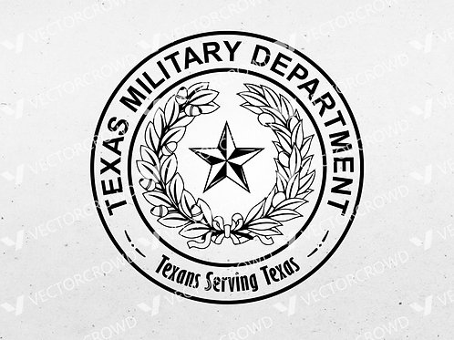 Texas Military Department Seal | SVG Cut File