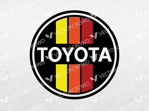 Vintage Toyota Logo | SVG Cut File