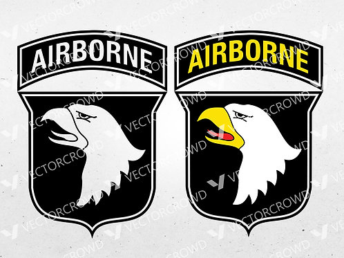 """101st Airborne Division """"Screaming Eagles"""" Army Infantry Logo 