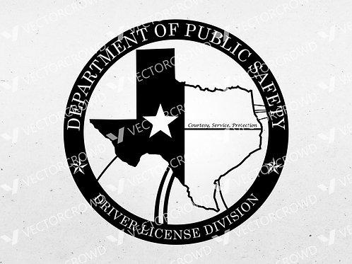 Texas Drivers License Division Logo | SVG Cut File