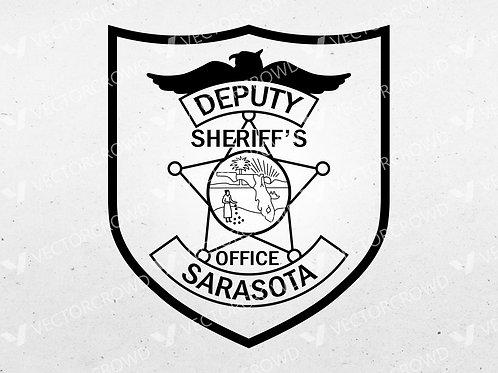 Sarasota County Florida Sheriff's Department Deputy Patch | Vector Image