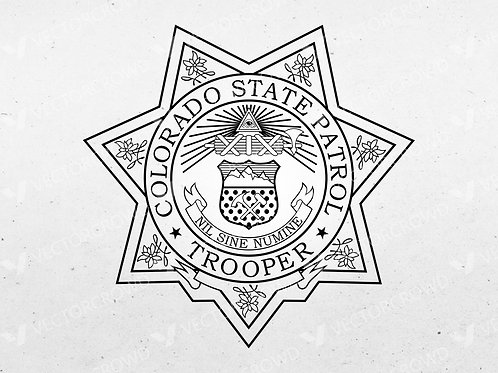 Colorado State Patrol Trooper Badge | Digital Image | VectorCrowd