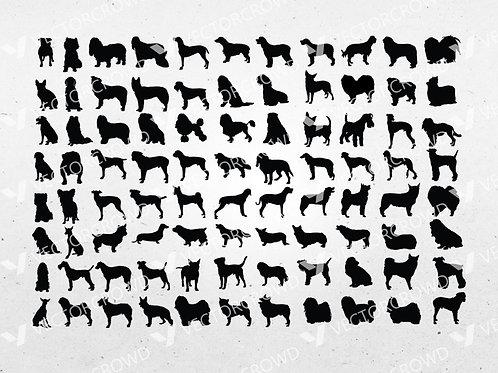 Dogs Silhouettes Bundle | SVG Cut