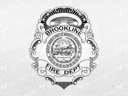 Brookline New York Fire Department Badge | Vector Image