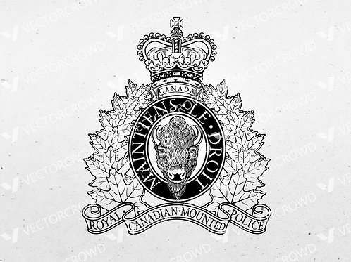 Royal Canadian Mounted Police RCMP Insignia | SVG Cut File