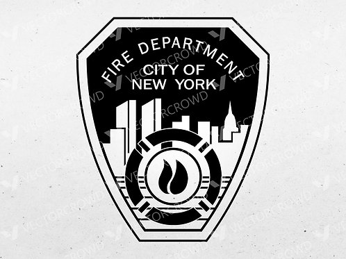 FDNY Logo, New York City Fire Department Patch | SVG Cut File