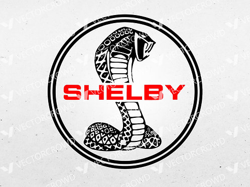 Shelby Cobra Mustang Ford Logo | SVG Cut File