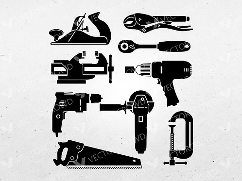 Hand Tools SVG AI Bundle | Digital Images | VectorCrowd