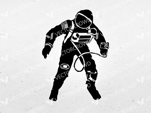 Astronaut Holding Camera Silhouette | SVG Cut File