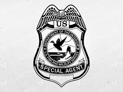 US Fish and Wildlife Service Special Agent Badge | SVG Cut File