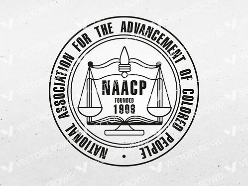 NAACP National Association Advancement of Colored People Seal | SVG Cut File
