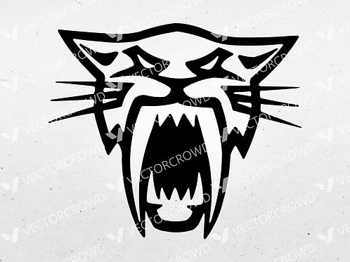 Arctic Cat Snowmobile Head Logo | SVG Cut File