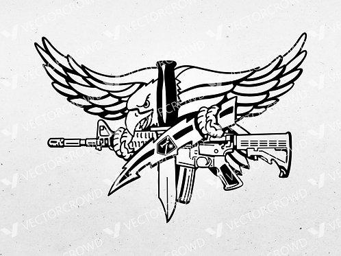 SWAT Operator Eagle Emblem   Vector Image