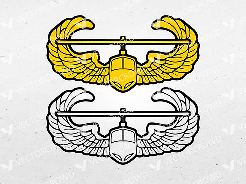 US Army Air Assault Wings Badge | SVG Cut File