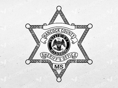 Hancock County MS Sheriff's Department Badge | Vector Images | VectorCrowd