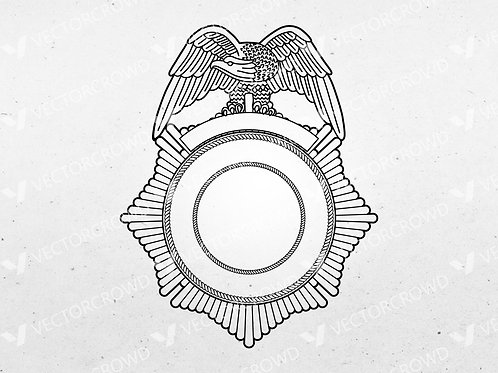 Blank Police Sheriff's Badge Version 2 | Vector Images | VectorCrowd