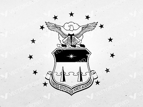 U.S. Air Force Academy Seal USAF Insignia | SVG Cut File