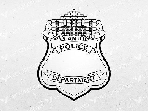 San Antonio Texas Police Department Badge | SVG Vector Image