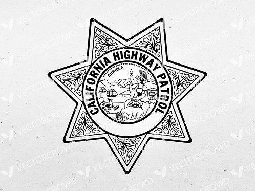 California Highway Patrol CHP Badge | SVG Cut File
